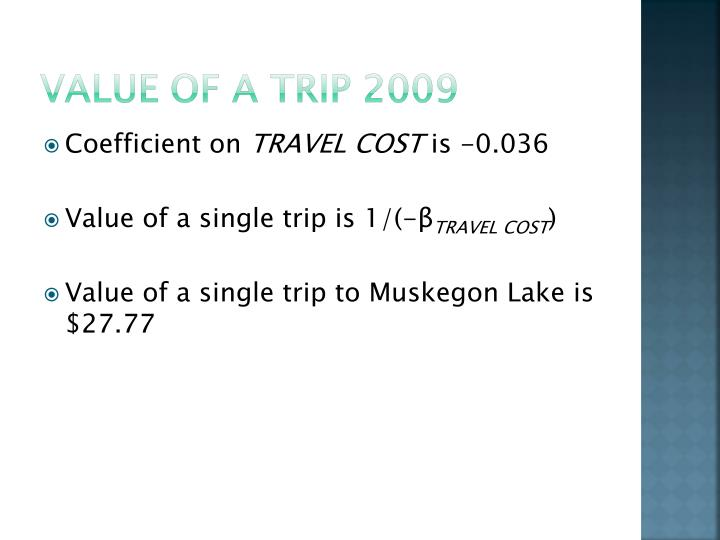 Value of a Trip 2009