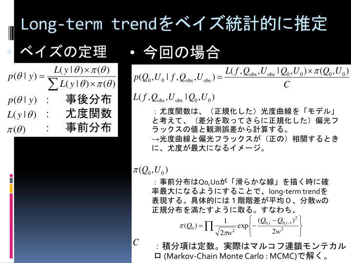 Long-term trend