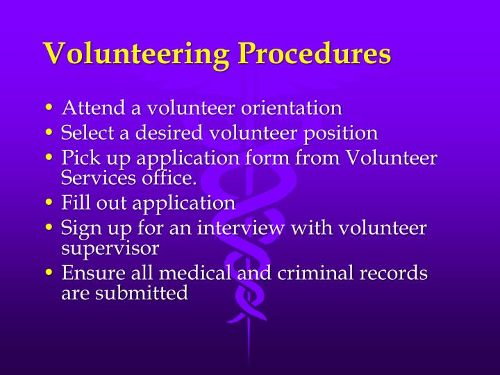 Volunteering Procedures
