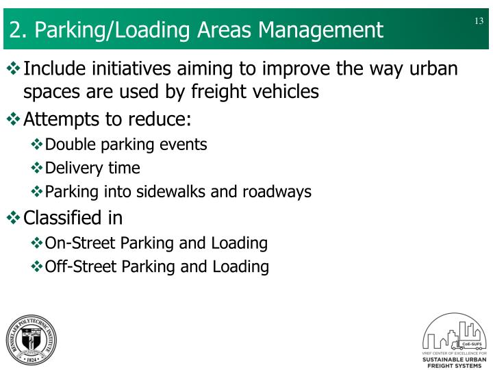 2. Parking/Loading Areas Management