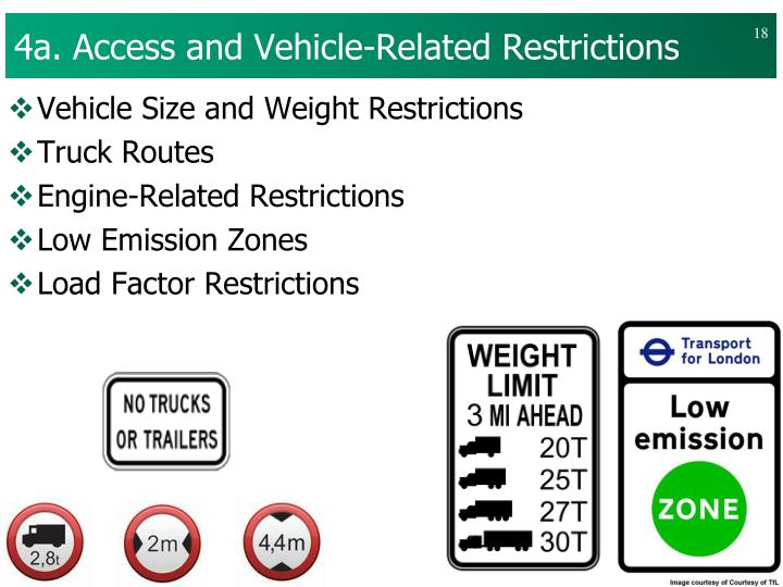 4a. Access and Vehicle-Related Restrictions