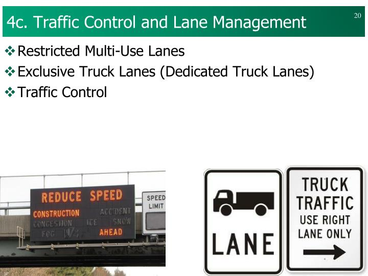 4c. Traffic Control and Lane Management