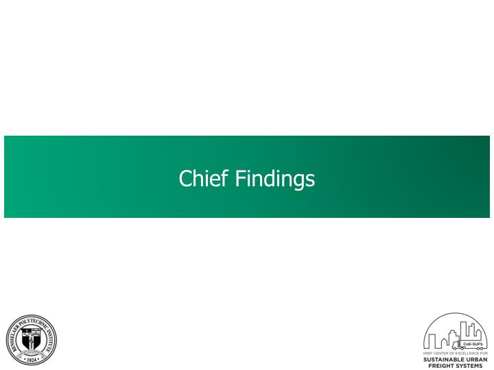 Chief Findings