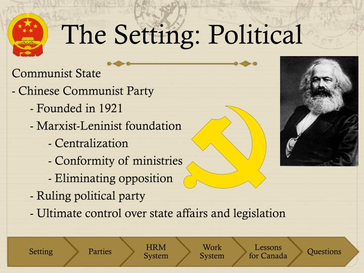 The Setting: Political