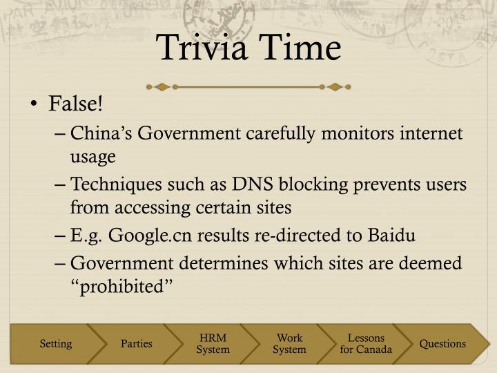 Trivia Time