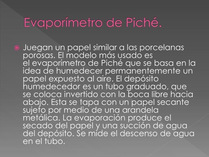 Evaporímetro de Piché.
