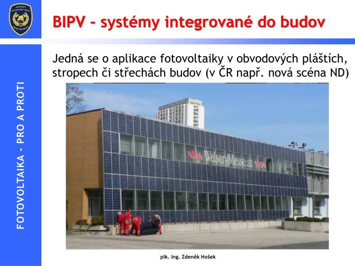 BIPV - systémy integrované do budov