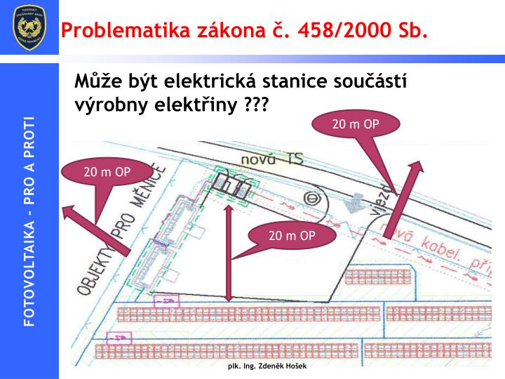 Problematika zákona č. 458/2000 Sb.