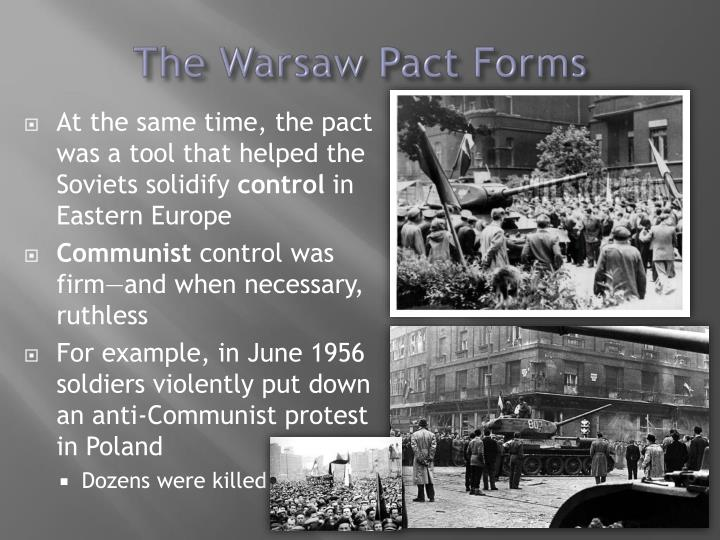 The Warsaw Pact Forms