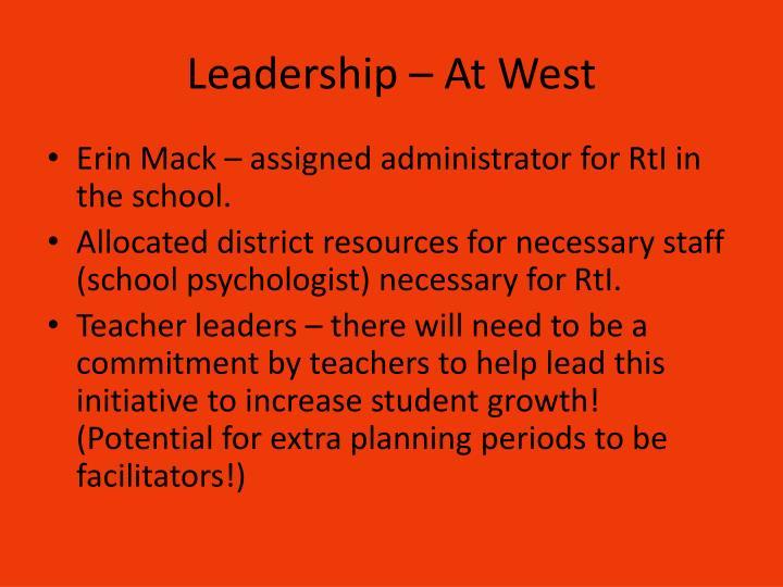 Leadership – At West