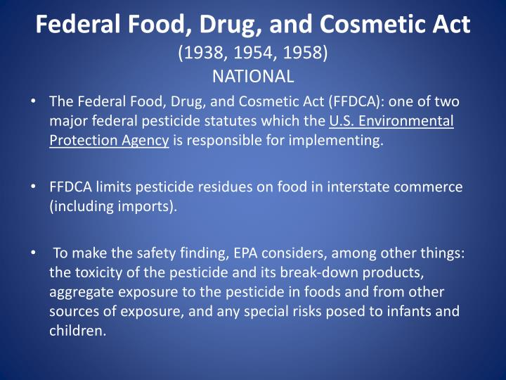 essay paper on food and drug act 1906 The 1906 pure food and drug act and creation of the fda in june  this name was shortened to the food and drug administration (fda) three years later.