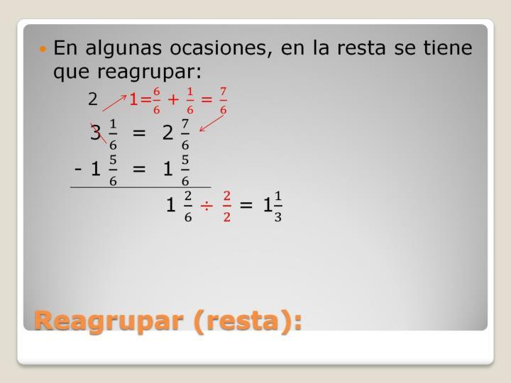 Reagrupar (resta):