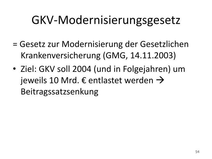 GKV-Modernisierungsgesetz