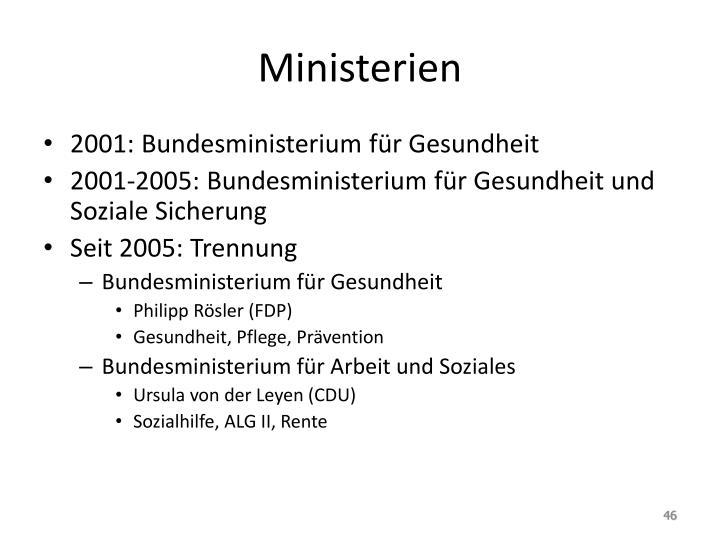 Ministerien