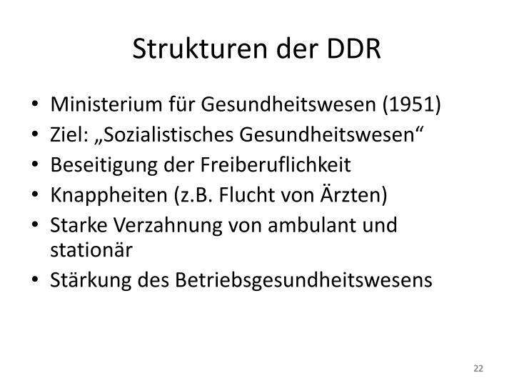 Strukturen der DDR
