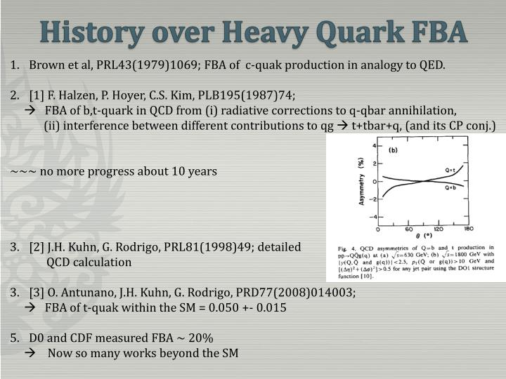 History over Heavy Quark FBA