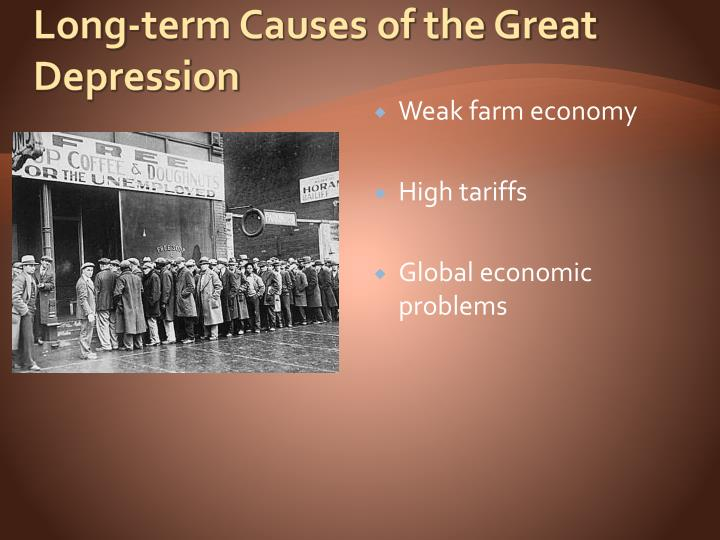 an account of the effects of the great depression The primary effects for children of the american great depression of the 1920s and 1930s were hard labor, malnutrition and hunger, and displacement many young people also developed emotional and psychological problems as a result of living in constant uncertainty and of seeing their families in hardship.
