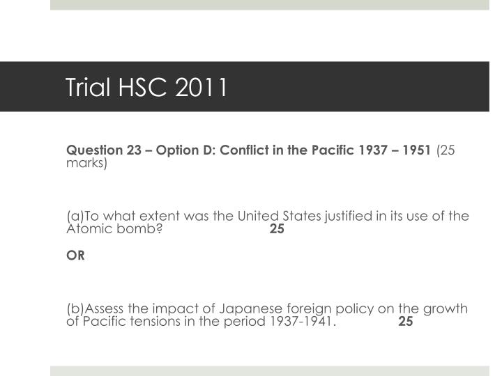 Trial HSC 2011