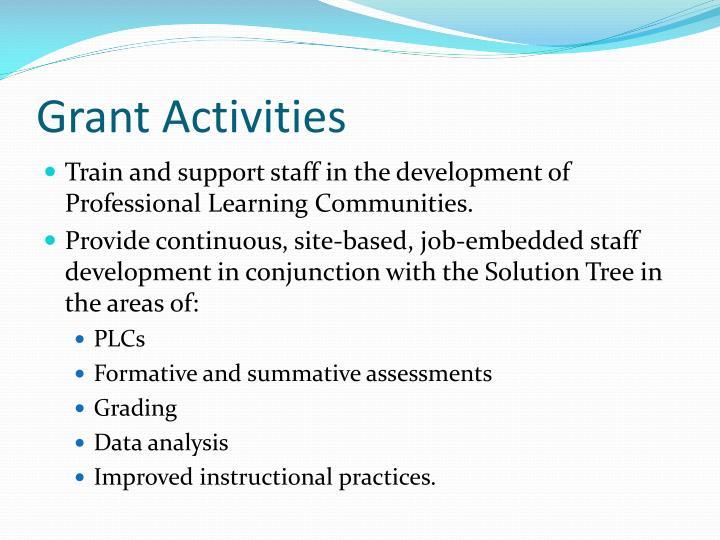 Grant Activities