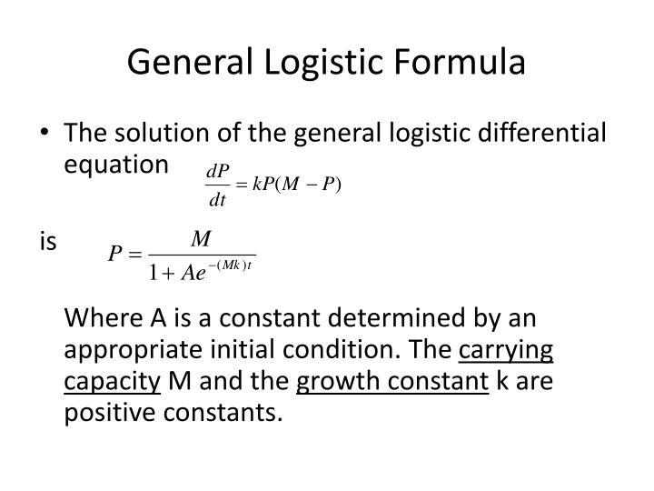 General Logistic Formula