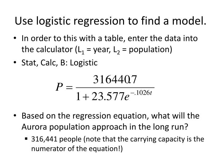 Use logistic regression to find a model.