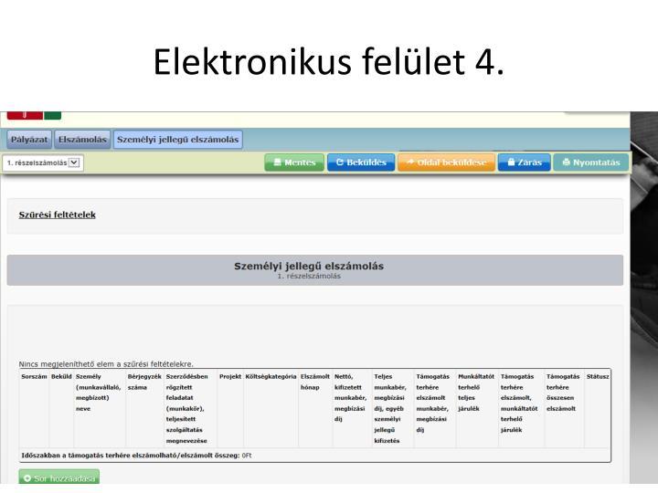 Elektronikus felület 4.