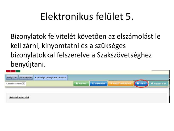 Elektronikus felület