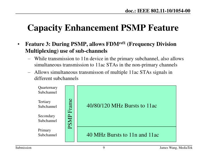 Feature 3: During PSMP, allows FDM