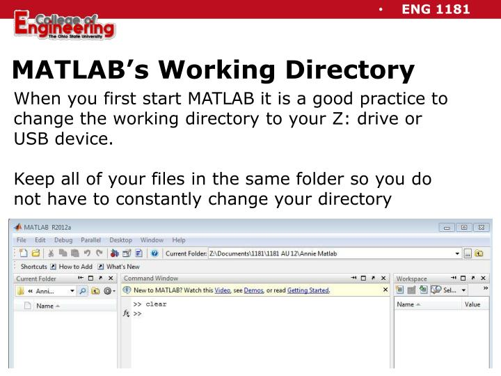 MATLAB's Working Directory