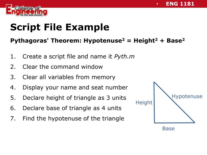 Script File Example
