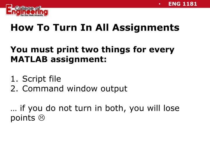 How To Turn In All Assignments