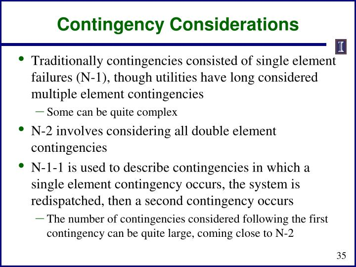 Contingency Considerations