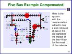 five bus example compensated