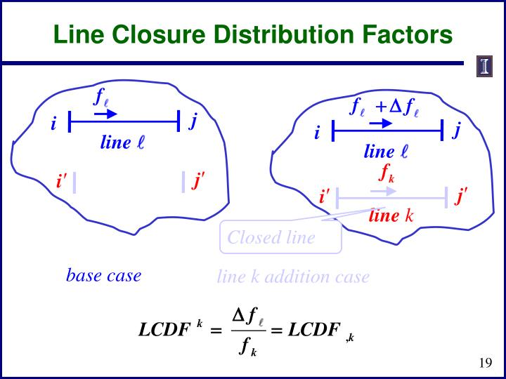 Line Closure Distribution Factors