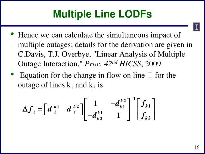 Multiple Line LODFs