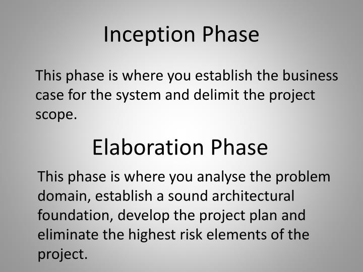 Inception Phase