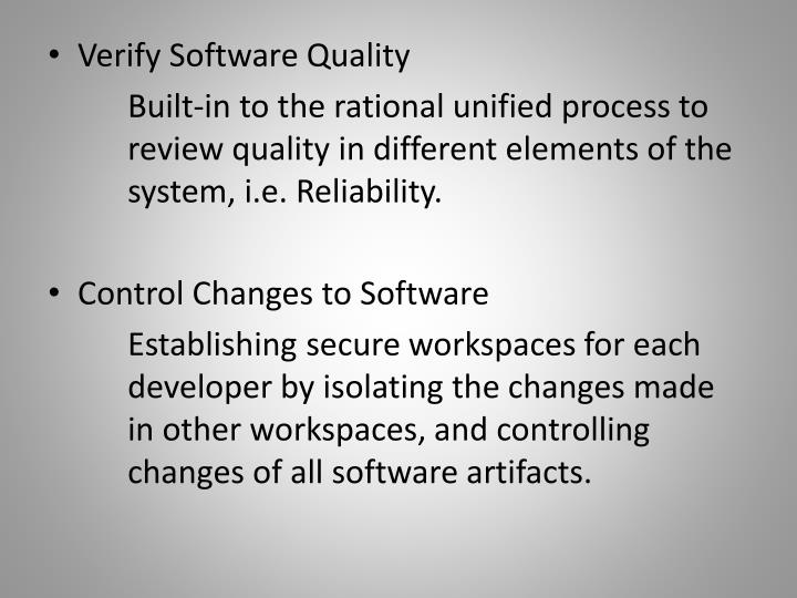 Verify Software Quality