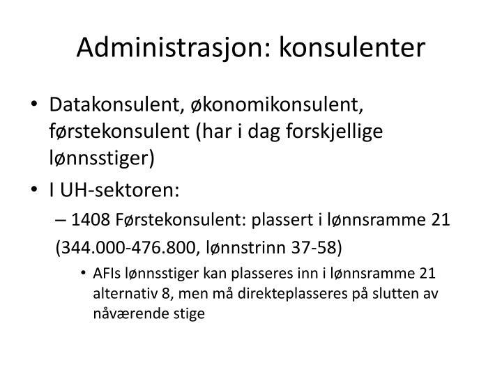 Administrasjon: