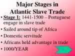 major stages in atlantic slave trade
