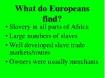 what do europeans find