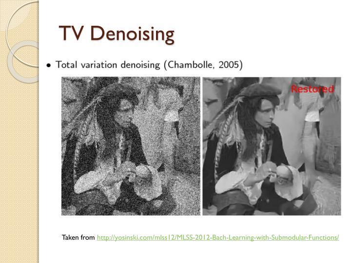 TV Denoising