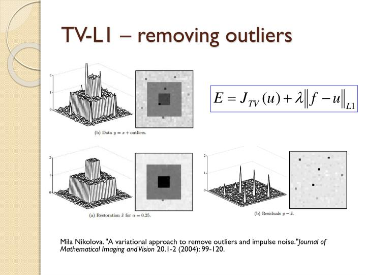 TV-L1 – removing outliers