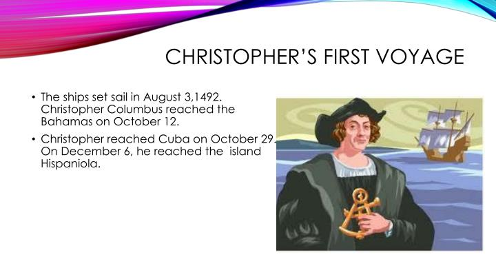 Christopher's first voyage