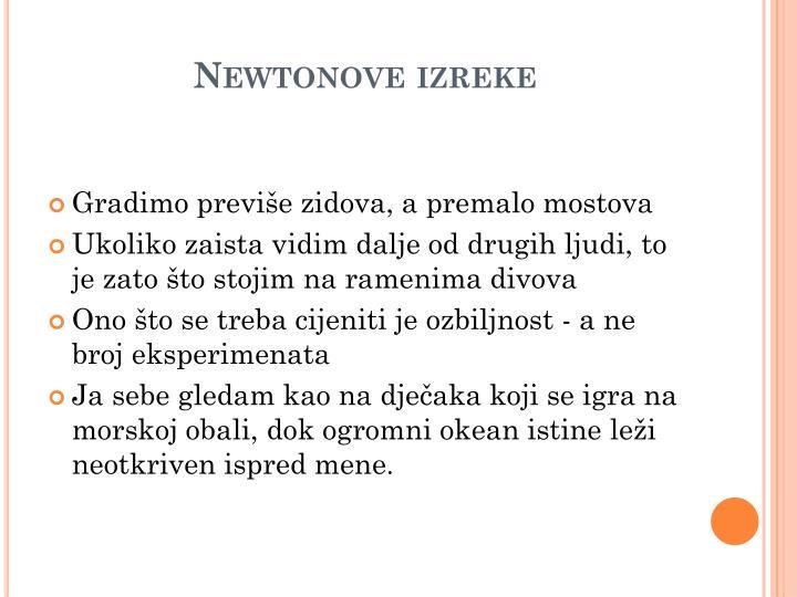 Newtonove izreke