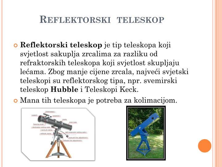 Reflektorski  teleskop