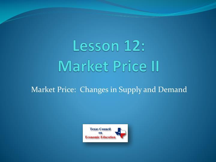 Lesson 12: