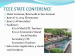 tcee state conference