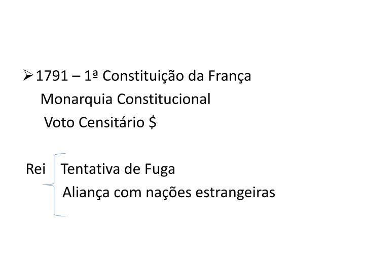 1791 – 1ª Constituição da França