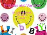 problem and variable