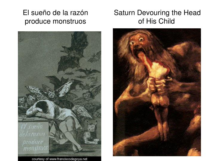 El sueño de la razón             Saturn Devouring the Head